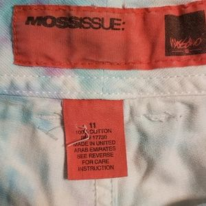 Mossimo Supply Co. Shorts - Tiedye trouser shorts pink and blue size 11
